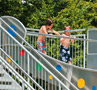 Wide Water Slides – Outdoor Pool Thaining
